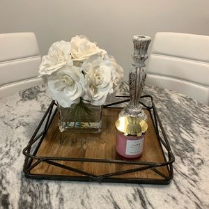 Awesome Rustic iron and shiplap farmhouse tray